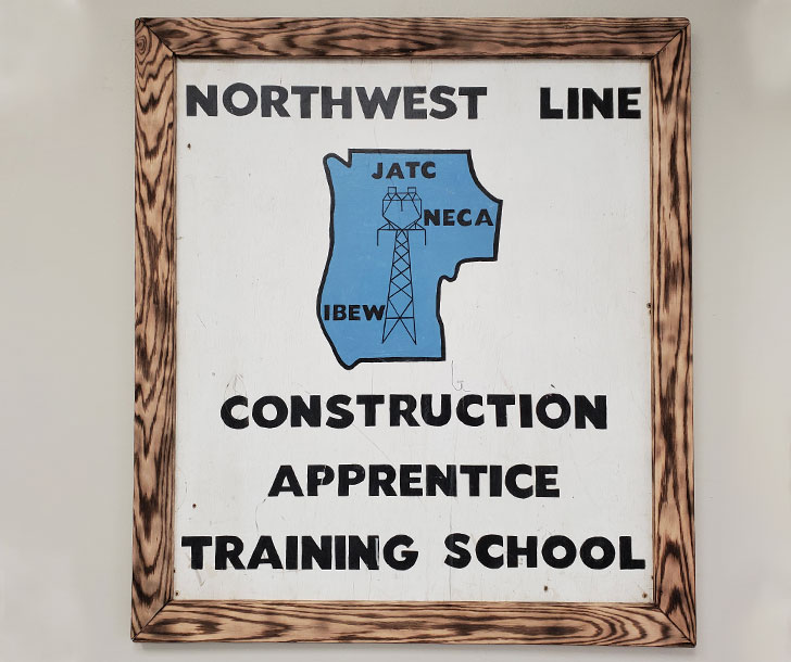 Photo of apprentice training school sign